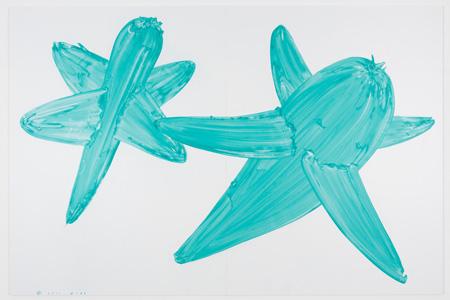 Mika Yoshizawa_ yo-26 2011  200x300cm  gouash on plastic paper