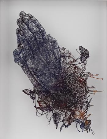 盛田亜耶 「祈りの手」 2016