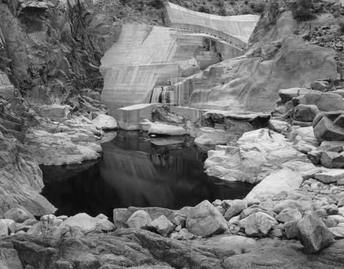 Toshio SHIBATA - #2145 MCA Chicago , Bartlett Dam, Maricopa County, AZ , 1997 , Gelatin silverprint