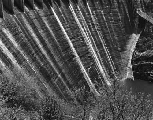 Toshio SHIBATA - #2260 MCA Chicago_Cheoah Dam, Topoco, Graham County, NC , 1997 ,Gelatin silverprint