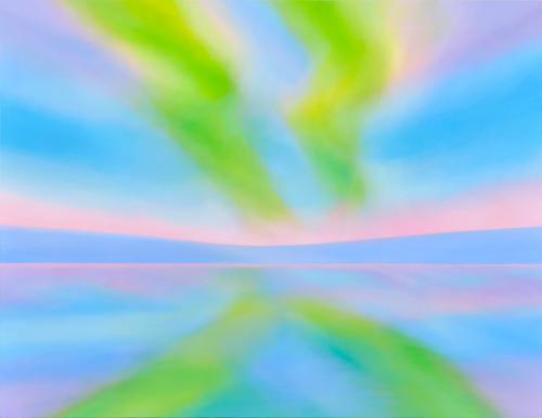 Naoko TOMIOKA  Dawn  2014  acrylic on linen, panel  108×140  (C) Naoko Tomioka