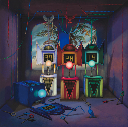 Meo SAITO Quiz Booths For Lost Souls 2020 acrylic gouache on paper