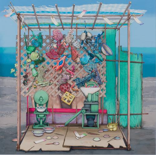 Meo SAITO Fūkadō - Flotsam Painting Supplies 2020 acrylic gouache on paper