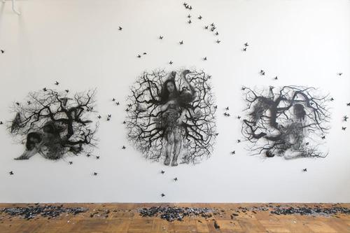 Aya MORITA - Installation View: Graduation Works Exhibition at Tokyo University of the Arts (MFA) 2017