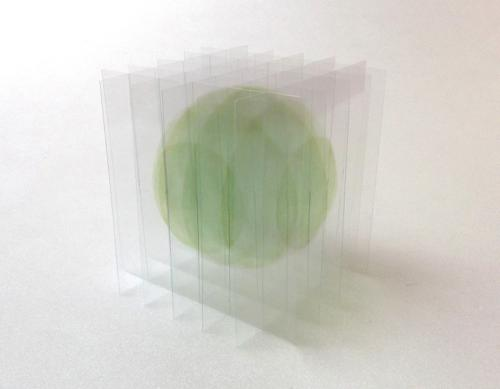 Go SEGAWA - Dessin/volume : balle flottante III(verte)