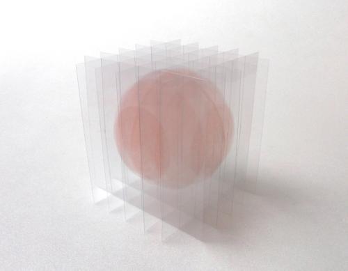 Go SEGAWA - Dessin/volume : balle flottante I (rose)