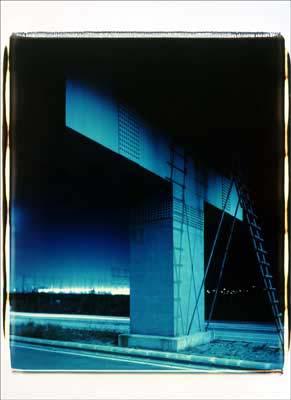 Toshio SHIBATA - pora2024-3 Night Photo , Yokohama City, Kanagawa Prefecture , 1992 , Dye diffusion print