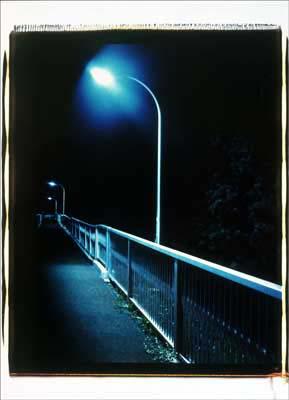 Toshio SHIBATA - pora2024-4 Night Photo , Yokohama City, Kanagawa Prefecture , 1994 , Dye diffusion print