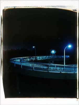Toshio SHIBATA - pora2024-5 Night Photo , Yokohama City, Kanagawa Prefecture , 1994 , Dye diffusion print