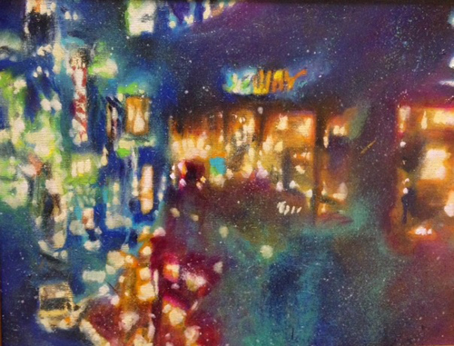 Tamana MOTEKI 霧雨のサブウェイ 2014 油彩、カンヴァス 41.0×32.0cm(F6号)