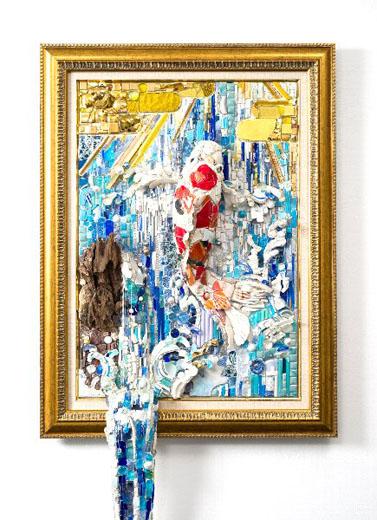 西ノ宮佳代 - Metamorphosisー登龍門 2014年 193.5×60.3×17.0cm モザイク
