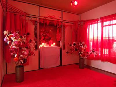 Meo SAITO - 男と女の四畳半みくじ インスタレーション , TAP2008「取手アートプロジェクト」取手市 井野団地1ー10-306号室 , 2008年11月1日~3日、7日~9日、14日~16日