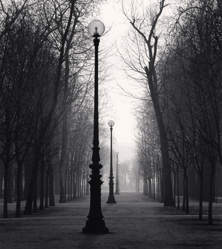 Michael Kenna - Tuileries Gardens, Study 4, Paris, France. 1987