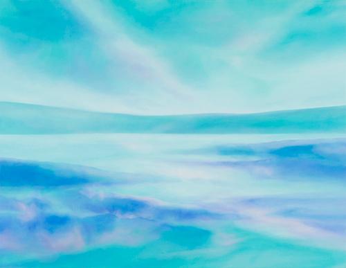 富岡直子  朝もや―気配にたたずむ  108×140 cm  2017  アクリル、麻キャンバス、パネル  (C) Naoko Tomioka, Photo (C) Hideto NAGATSUKA
