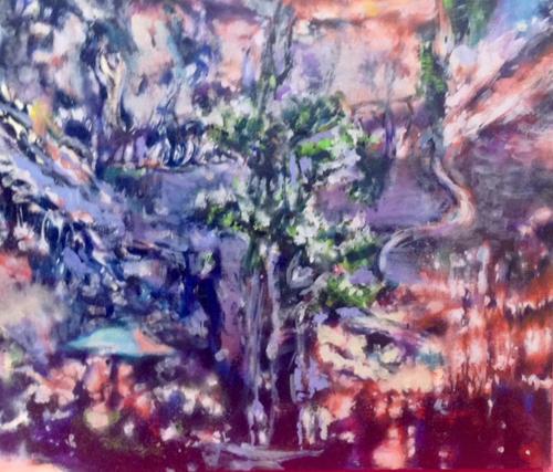 茂木たまな レストラン銀河ー辻堂ー2014 油彩、カンヴァス45.0×53.0cm(F10号)