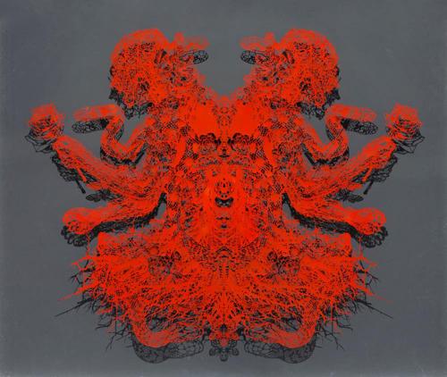 Aya MORITA - 愛の起源, 2015, 99.0×116.0cm, 切り絵、アクリル絵の具