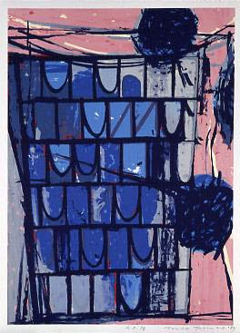 辰野登恵子 「July-3-89」, 1989, Silkscreen on paper, 78.5.0×57.0 cm