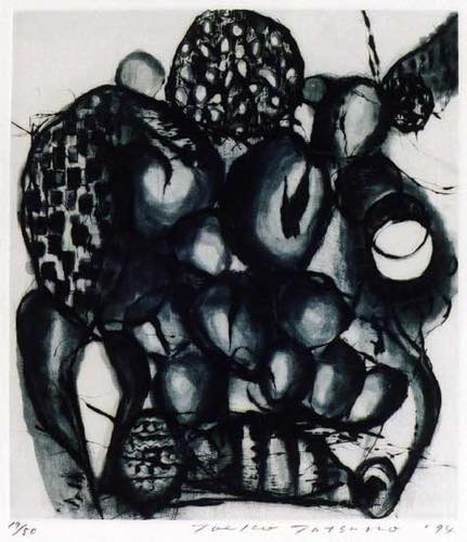 辰野登恵子 「May-1-94」, 1994, Etching, 44.5x39.0 cm