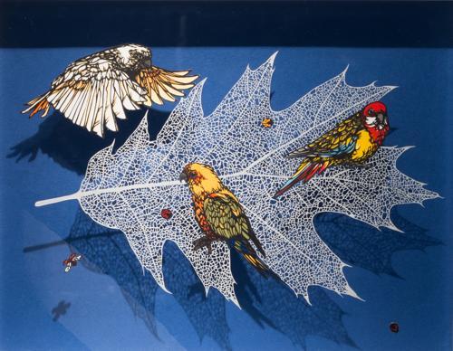 Aya MORITA - Vein, 2015, 53.0×44.0cm(額寸), 切り絵、額