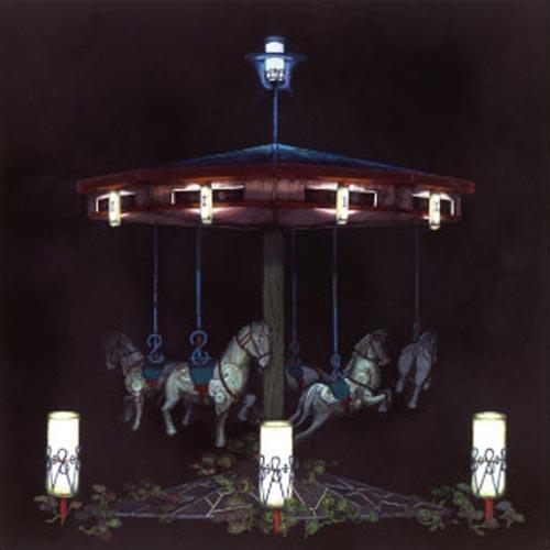 齋藤芽生, 遊隠地「誘眠木馬」, 2002, アクリル・紙, 54 x 54 cm